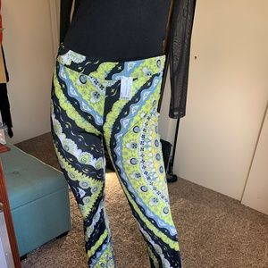 Pants - Emillio Pucci Silk Pattern Flare Leg Pant